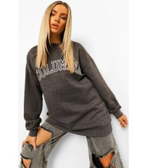 oversized columbia sweater, charcoal