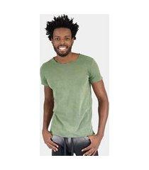 camiseta jay jay premium verde stone corte a fio lisa