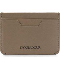 troubadour card holder wallet - grey