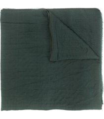 giorgio armani pre-owned 1990's reversible creased scarf - green