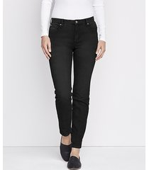 1856 stretch denim skinny jeans, black, 16