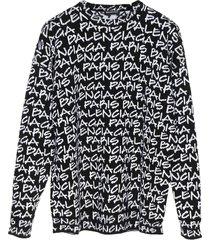 balenciaga paris sweater