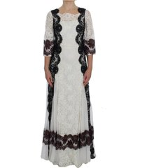 floral lace full length gown dress