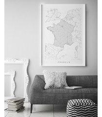 francja - mapa finlandii - plakat