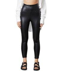 women's nia faux leather leggings, size medium - black