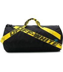 off-white industrial strap nylon duffle bag - black