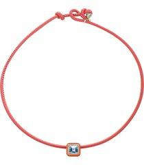 topaz candy pop choker necklace