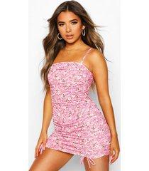casual jurk met dierenprint, roze