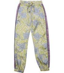 john richmond floral print yellow acetate pants