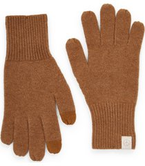 women's rag & bone ace cashmere gloves, size one size - beige