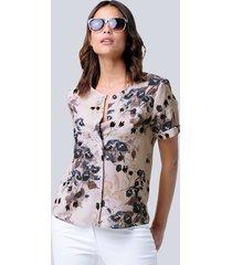 blouse alba moda steen::petrol