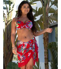 miami brights tassel mini sarong