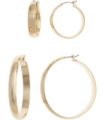 women's halogen all day every day set of 2 hoop earrings