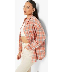 geruite oversized blouse, pink