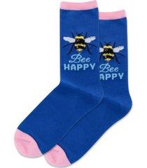 hot sox bee happy crew socks