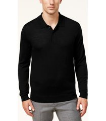 club room men's merino wool blend polo sweater, created for macy's