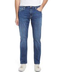 mavi jeans men's zach straight leg jeans, size 38 x 32 in dark brushed organic move at nordstrom