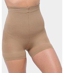 short modelador selene cós alto com silicone feminino - feminino