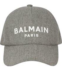 balmain wool cap