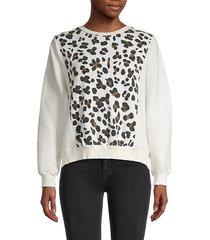 leopard rib-knit sweatshirt