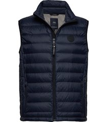 quilted down gilet vest blauw lindbergh