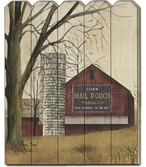 "trendy decor 4u mail pouch barn by billy jacobs, printed wall art on a wood picket fence, 16"" x 20"""