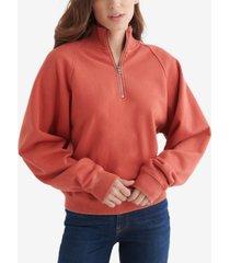 women's quarter-zip fleece pullover sweater