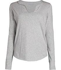 zadig & voltaire women's tunisien long-sleeve top - black - size l