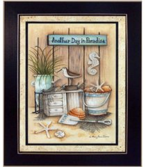 """trendy decor 4u another day in paradise by mary june, printed wall art, ready to hang, black frame, 14"""" x 20"""""""