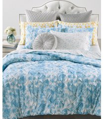closeout! whim by martha stewart collection pleated tie dye 2-pc. twin/twin xl comforter set, created for macy's bedding