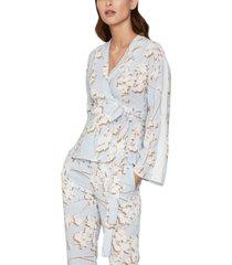 bcbgmaxazria floral-print wrap jacket