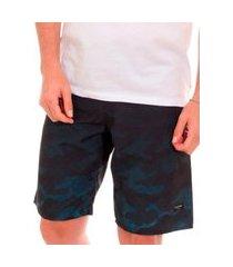 bermuda calvin klein swimwear masculina d'água fence azul índigo