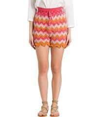m missoni shorts in wave lurex knit