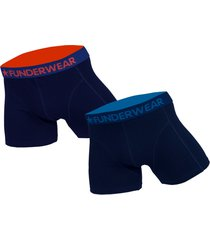 funderwear 2 pak heren boxershort donker blauw 76001-xxl