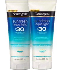 kit 2 protetor solar neutrogena sun fresh aqua light fps 30 200ml