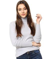 sweater gris invento perla