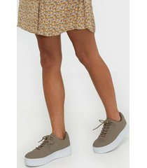 nly shoes flirty platform sneaker low top beige