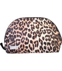 ganni leopard print clutch