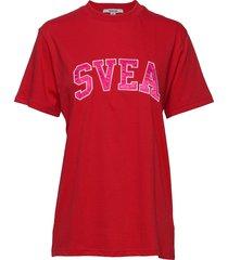cannes tee t-shirts & tops short-sleeved röd svea