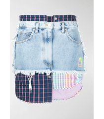 natasha zinko patchwork denim skirt