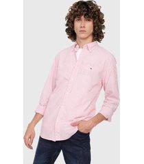camiseta rosa-blanco tommy hilfiger