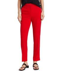 rag & bone women's layla crepe pants - red - size 4
