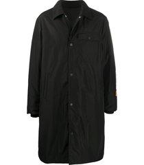 heron preston padded duffle coat - black