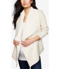 a pea in the pod maternity draped faux-suede jacket