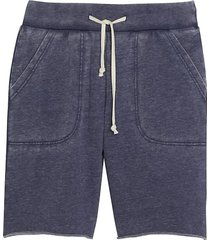 alternative apparel men's victory modern fit burnout french terry shorts dark navy - size: large