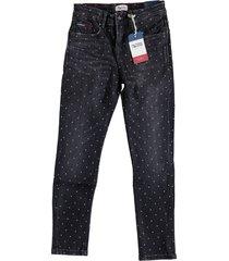 tommy hilfiger donkergrijze skinny jeans