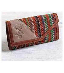 leather and wool wallet, 'dancer's soul' (peru)