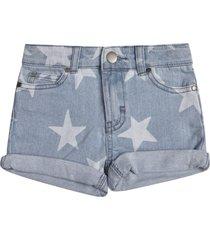 stella mccartney star motif denim shorts