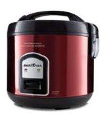 panela de arroz britania glass cooker inox red bpa12vi 12 xicaras