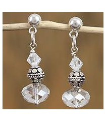 swarovski crystal dangle earrings, 'sparkling fantasy' (mexico)